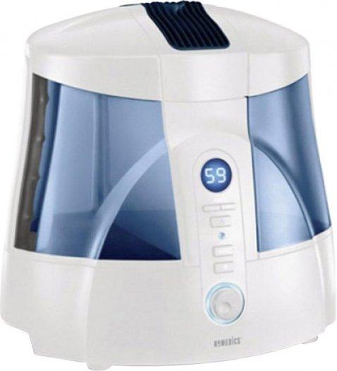 [Voelkner-Blitzangebot]  HoMedics Ultraschall-Luftbefeuchter Entkalkungspatrone 50 m² Weiß-Blau HUM-20A-EU für 31,59 Euro inkl. Versand