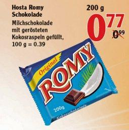 [92421/93073] Globus: Romy Kokosschokolade 200g für 0,77€