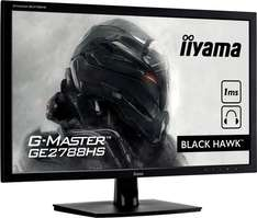 "Iiyama G-Master GE2788HS 68,6cm (27"")/ LED TN panel / DVI-D+?HDMI+?VGA / 1920x1080 / 12Mio:?1 / 300cd/?m2 / 1ms / 2x2,5W / schwarz inkl. Vsk für 195 € > [amazon.uk]"