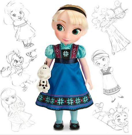[Disney Store] 25% auf 'Die Eiskönigin' und ausgewähltes Spielzeug + Aktionen - z.B. Animators Collection Puppe (Elsa oder Anna) für 28,12€ statt 40€