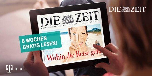 Acht Wochen die ZEIT digital kostenlos