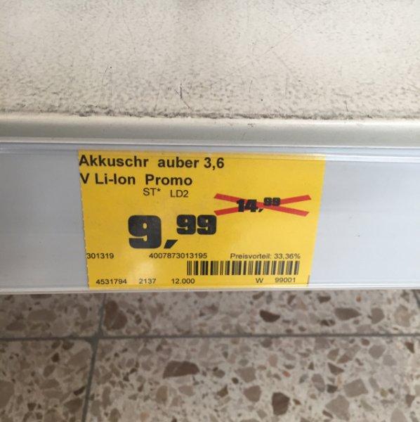 [Lokal Wetzlar?] LUX Akkuschrauber ABS-3,6 LI