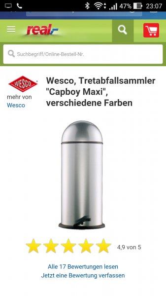 Wesco capboy maxi 22l Mülleimer @real Marktanlieferung