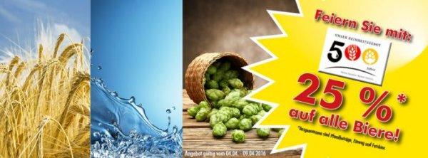 [lokal Logo Getränkefachmärkte ] - 25% auf alle Biersorten