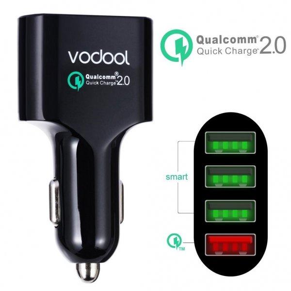 Vodool 4 Auto Ladegerät 54W/5V 4-Port USB