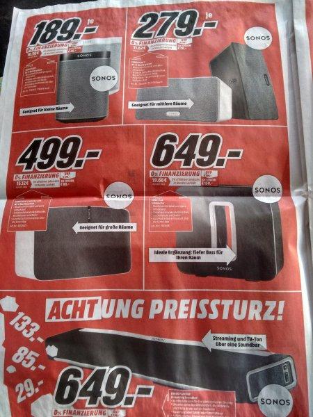 Mediamarkt Papenburg: Sonos Komponenten im Angebot