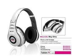"SOUNDS Big City ""KS780"" Bluetooth Kopfhörer (All-In-One) in weiß für 23,95 € @ Allyouneed"