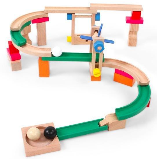 [ebay.de] Infantastic Kugelbahn aus Holz, 46 Teile, inkl. 3 Kugeln für 11,95€ inkl. VSK statt 19,95€