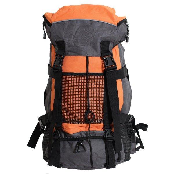 [Amazon Blitzangebot] BRUBAKER Sport Rucksack, Trekkingrucksack Vancouver 50 Liter Grau / Orange