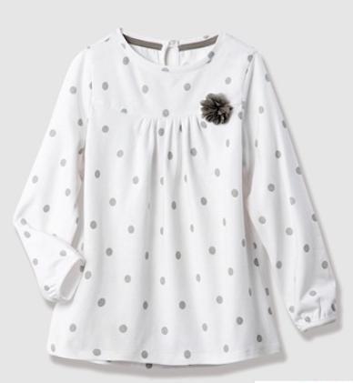 [vertbaudet.de] Midseason Sale mit bis zu 40% Rabatt und noch mal 10% auf Sale Artikel extra, z.B. Langarmshirt für Mädchen für 9,96€ statt ca. 14€