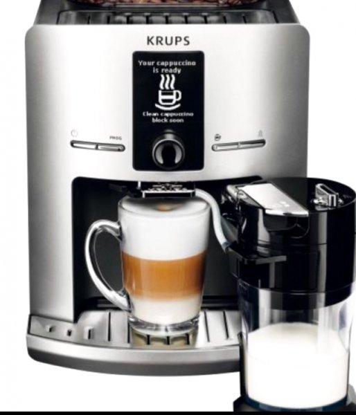 Krups EA 829 E Latt'Espress Silver Kaffeevollautomat für 299,99 Versandkostenfrei