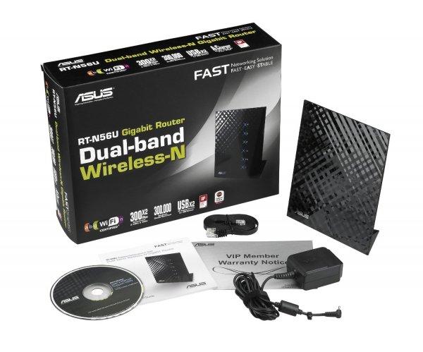 (Amazon Blitzangebot) Asus RT-N56U N600 Black Diamond Dual-Band WLAN Router