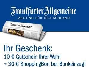 Frankfurter Allgemeine Zeitung mit GEWINN