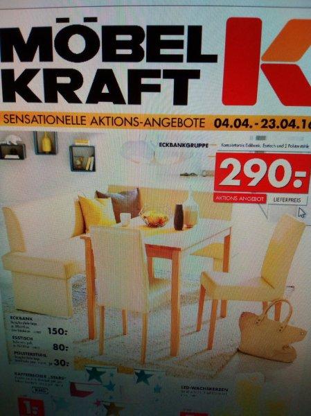 [Möbel Kraft Taucha bei Leipzig] Aktuelle Prospektwerbung z.b. Eckbank komplett 290€, Schlafsofa 110€