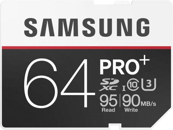 [Conrad] SDXC-Karte 64 GB Samsung PRO Plus Class 10 - 95 MB/s (lesen), 90 MB/s (schreiben )UHS-I, UHS-Class 3 für 24,44€