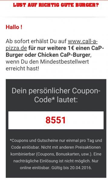 Call a Pizza Burger 1€