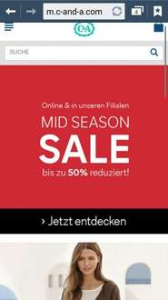 c&a sale online und in filialen