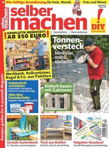 """Heimwerkermagazin """"Selbermachen"""" im Jahresabo (11 Ausgaben) für eff. 11,80€ bzw. 16,80€"""