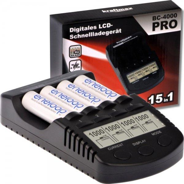 [Ebay] Kraftmax BC-4000 Pro Ladegerät für Eneloop Akkus optimiert  -16% =  33 €+ 2 Boxen