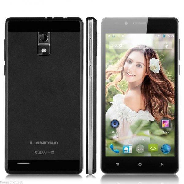 "LANDVO V80 5.0"" 3G Smartphone Android 5.1 Quad Core 1G/8G Mobile Phone Black"