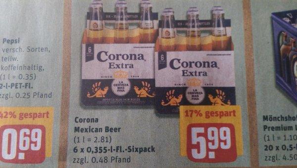 Corona Sixpack für 5,99 Ab Montag bei REWE bundesweit