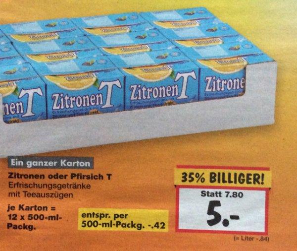 ZitonenT oder PfirsichT für 0,42€ Kaufland Heilbronn, 12 Stück für 5€