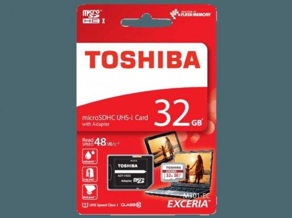 (MediaMarkt) 32GB Toshiba microSDHC-Karte für 6€ mit kostenlosem Versand