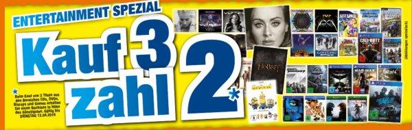 [Lokal] Octomedia Rastatt, Bühl und Lahr - Kauf 3 Zahl 2 auf Artikel aus CD, DVD, Blu-Ray, Games bis zum 12.04.16