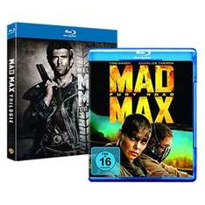 [real,-] Mad Max Trilogie + Mad Max 4: Fury Road, Blu ray, 4 Discs für 26,95€