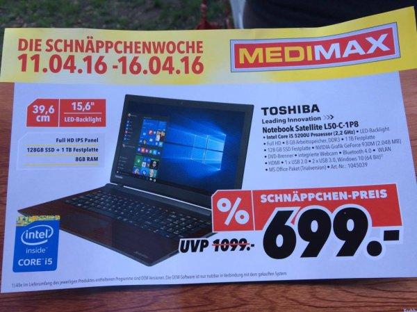 [LOKAL] Medimax - Toshiba Satellite-L50-C-1P8