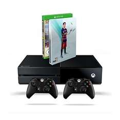 Xbox One 500 GB Konsole (2015) + FIFA 16 - Deluxe Edition inkl. Steelbook + 2. Xbox One Wireless Controller (2015) für 349,97€
