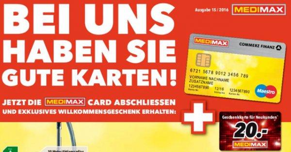 20 Euro Geschenkkarte für Medimax