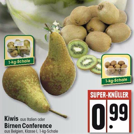 """[EDEKA SW] 1,0kg italienische Kiwis // 1,0kg belgische Birnen """"Conference"""" für 0,99€"""