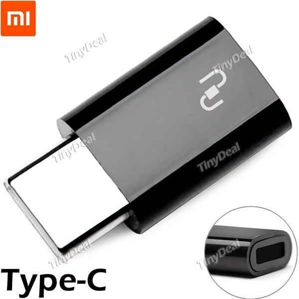 TINYDEAL Original Xiaomi USB-Typ-C-zu-Micro-USB-Adapter für Nexus 5X OnePlus 2 MacBook Nokia N1 ZUK Z1 Smartphone
