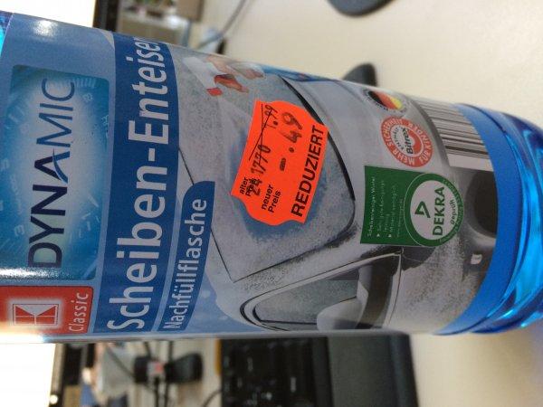 [Kaufland Lokal] Der nächste Winter kommt: Scheiben-Enteiser 1l 0,49€, Scheibenklar -20° 5l 0,99€