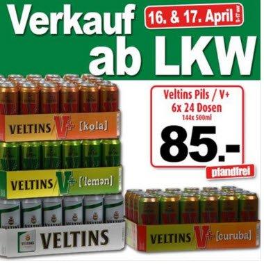 Verkauf ab LKW bei Ter Huurne an der Deutsch / Niederländischen Grenze