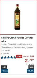 [Lidl Supersamstag 16.4] 750ml PRIMADONNA Natives Olivenöl extra