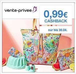 (Qipu) Cashback (0,99€) für die Erstanmeldung bei Vente-privee
