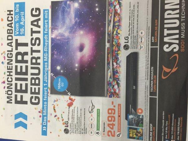 [Saturn Mönchengladbach] NEUHEIT LG 65UH8509 inkl. 3D Blue-Ray Player und 2 3D-Filme im Set für 2499€ Im Saturn Mönchengladbach Rheydt und Minto! 1000€ gespart!