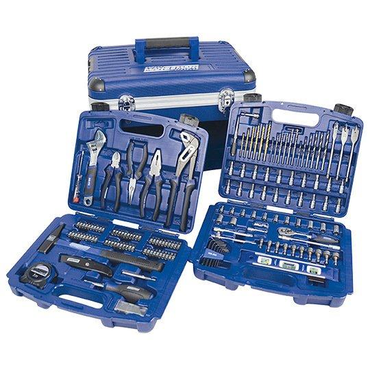 Real Online-Shop: Brüder Mannesmann Werkzeuge, Werkzeugbox mit Schubladen, 163-tlg.