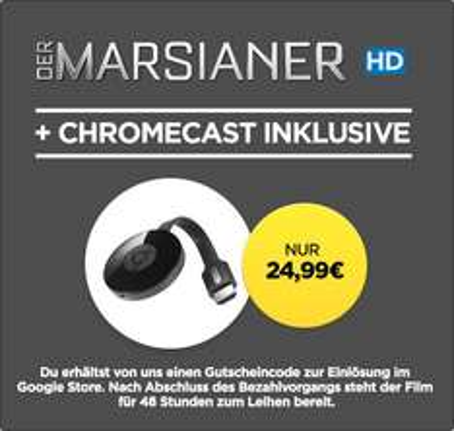 [Wuaki] - Google Chromecast 2 + Der Marsianer für 24,99€