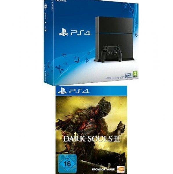 PlayStation 4 - Konsole (500GB, schwarz) [CUH-1216A] + Dark Souls 3