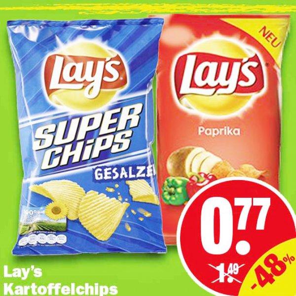 Lay's Super Chips 175g verschiedene Sorten für 0,77€ bei NP Discount