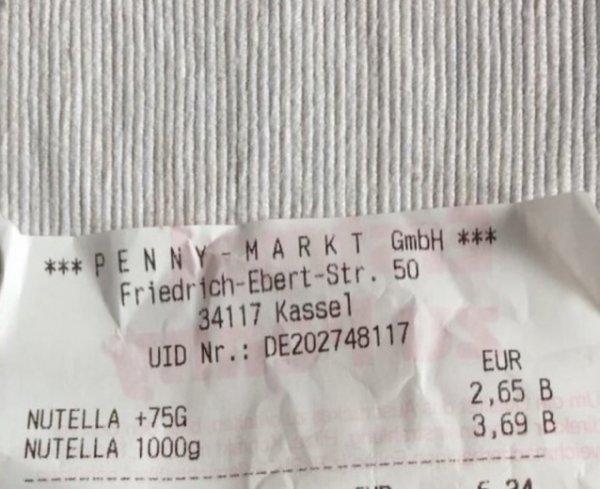 [Abgelaufen - bitte löschen] Nutella [Penny Kassel]
