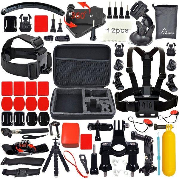 @Amazon: Basis-Zubehör-Bundle Kit für für Sport-Kameras sj4000 sj5000 und GOPRO HERO 4/3 + / 3 / 2/1 für 19,99€