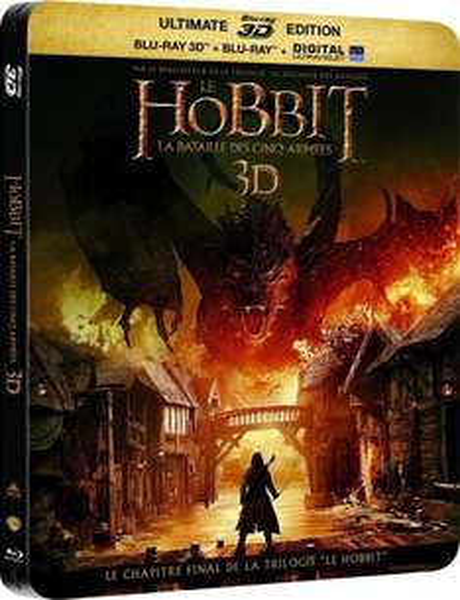 Die Schlacht der fünf Heere - Steelbook (Blu-ray 3D + 2 Blu-ray + DVD + UV) (OT) für 14,83€ bei Amazon.fr