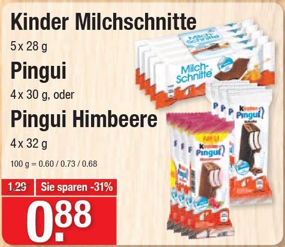 [V-Markt] Kinder Milchschnitte 5er / Pingui 4er / Pingui Himbeere 4er - in München