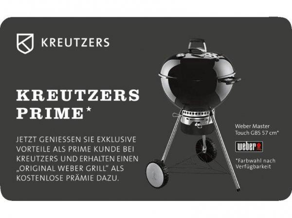 (Saturn) KREUTZERS Fleisch- und Genuss Prime Card (+ 50 Euro Gutschein) + Original Weber Mastertouch GBS 57 Grill