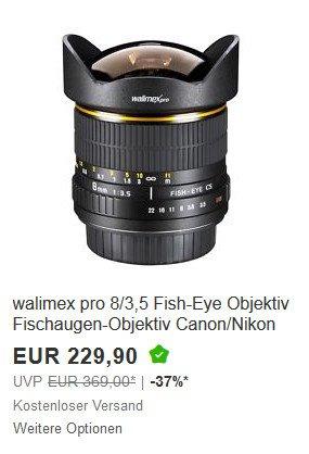 Walimex Fisheye Canon und Nikon