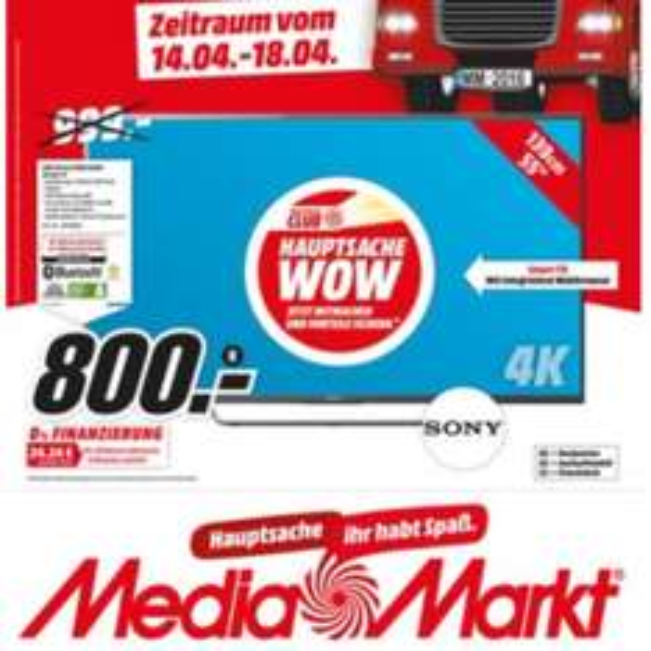 Sony BRAVIA KD-55X8005C BAEP (LED-Fernseher, 4K, 55 Zoll, schwarz) [LOKAL] Media Markt Gütersloh